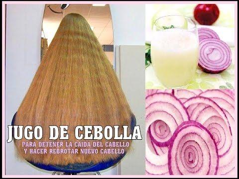 JUGO DE CEBOLLA PARA LA CAÍDA DEL CABELLO Y el rebrote de cabello nuevo - YouTube