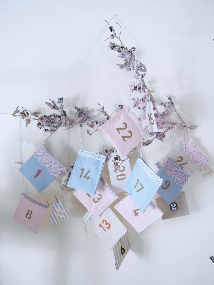 quick and easy DIY advent calendar by using lace and fabric