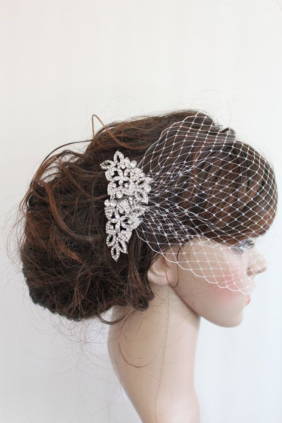 Hey, I found this really awesome Etsy listing at https://www.etsy.com/au/listing/169246805/wedding-fascinator-bridal-birdcage-veil