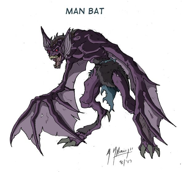 man bat transformation. man bat is definitly one of the characters that scared heck out me when i was a kid watching batman animated series. so decided to boost up transformation