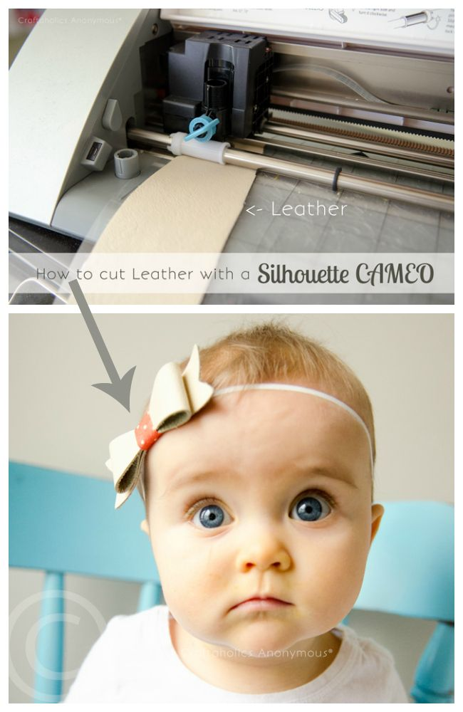 Craftaholics Anonymous® | How to Cut Leather with Silhouette CAMEO-includes stills and a video