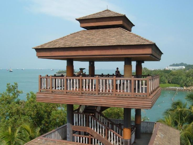 Sentosa has an island with twin observation towers.