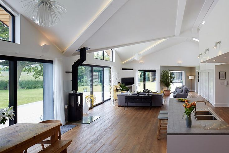 Open plan home interior photography by Paul Leach …