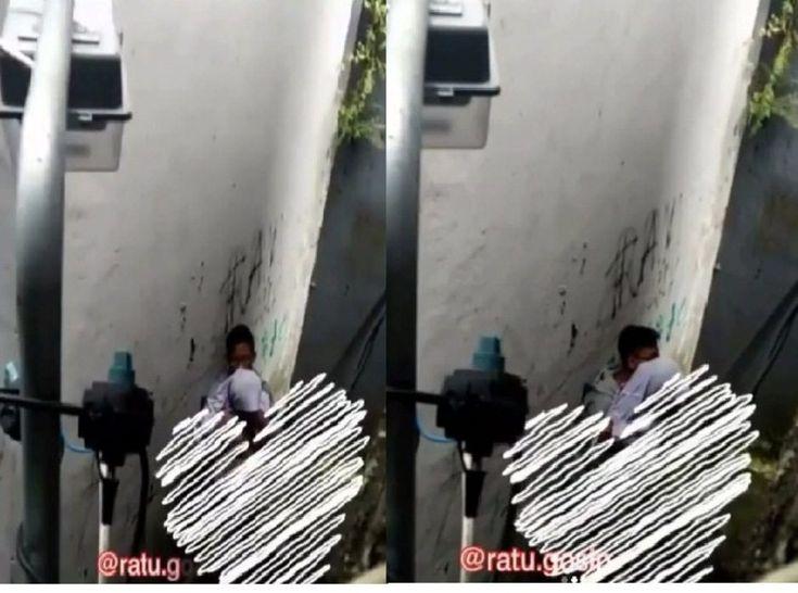 Tertangkap Kamera CCTV Dua Pelajar Asyik Begituan di Gang Sempit Miris!