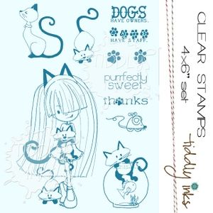 Tintas Tiddly CAT FIEBRE Clear Stamps TI045