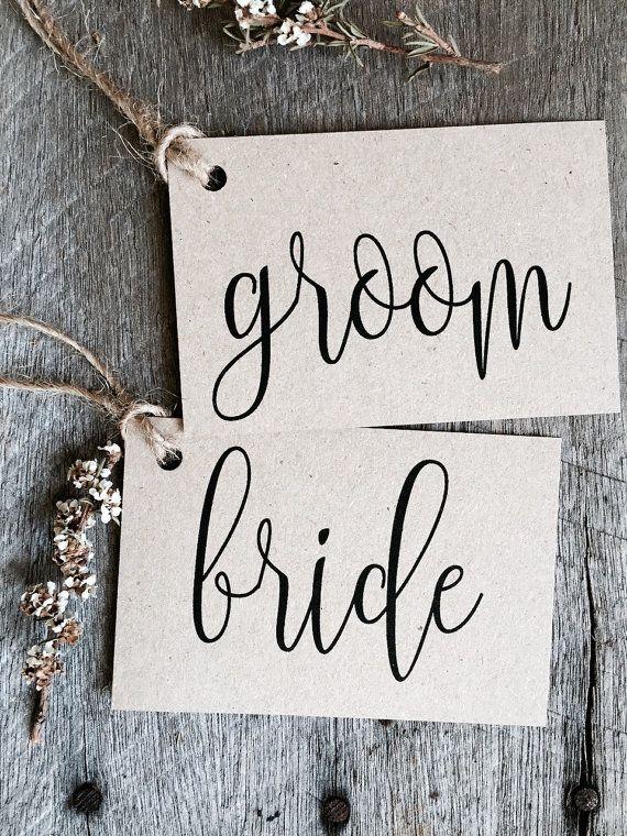 Eco-Friendly Calligraphy Wedding Place Cards by La Pomme et la Pipe