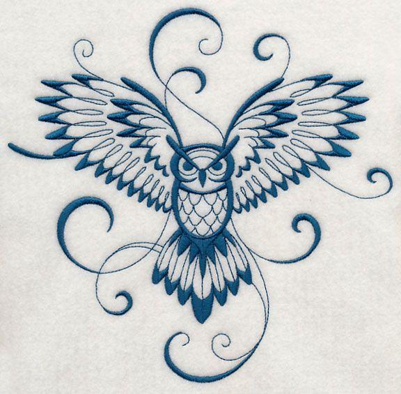 Inky Owl in Flight