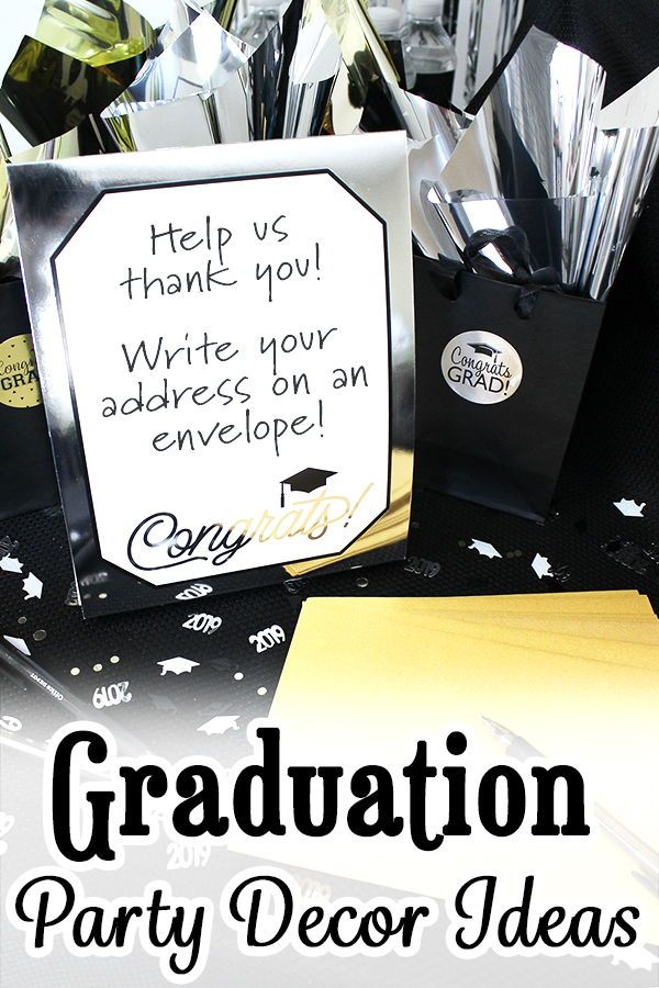 Graduation Idea - Have the guest's name included in the thank you envelopes so you do not forget to thank anyone (and you also have the option to ...