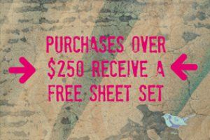 Limited Time!  Free twin xl sheets!