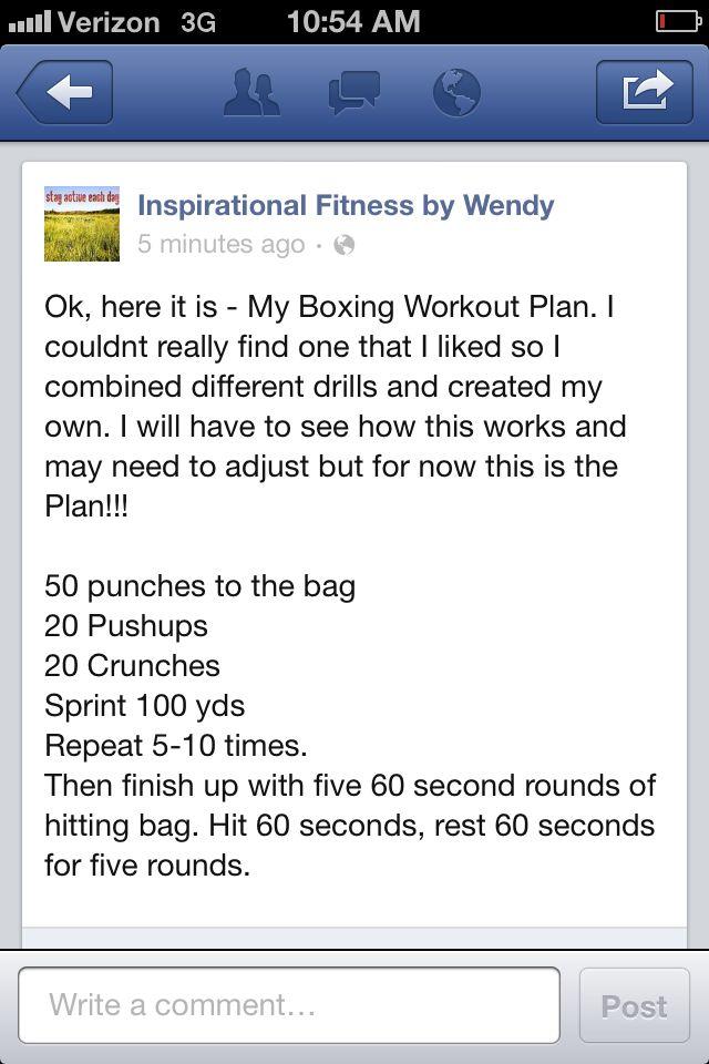Boxing Workout Plan