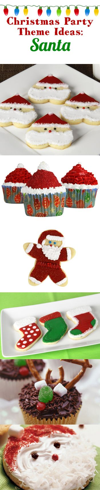 Santa-themed Christmas party desserts!