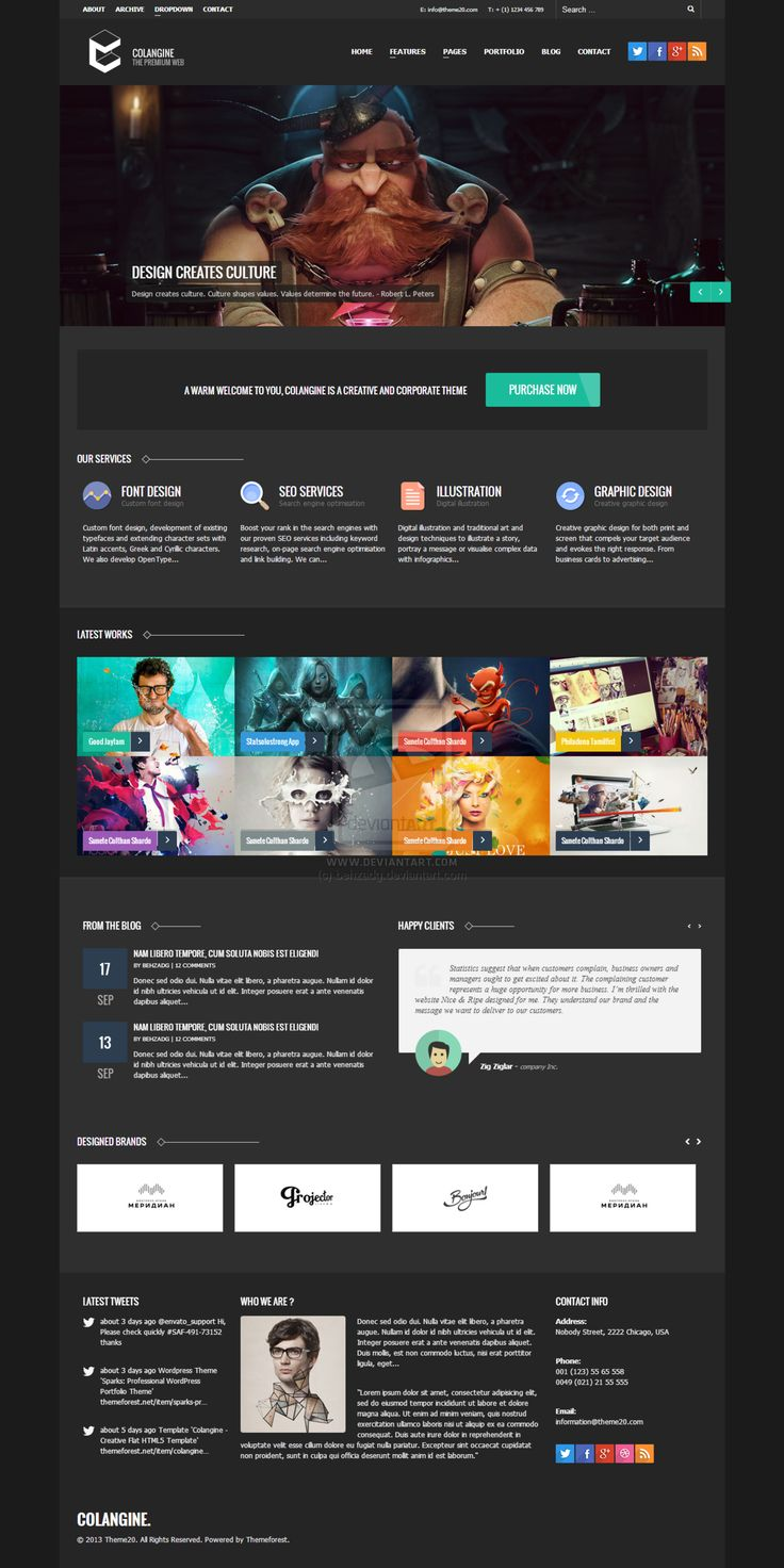 113 best Wordpress Theme, HTML, CSS3, PSD Template images on Pinterest