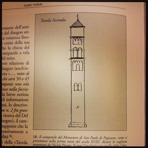 Il campanile del monastero di San Paolo di Pugnano anonimo 1735