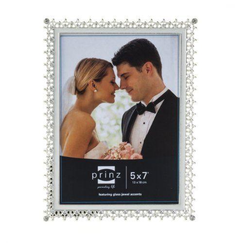 Prinz Elegance Silver Plated Metal Frame with Enamel Inlay and Jewels, 5 by 7-Inch PRINZ http://www.amazon.com/dp/B00ICBTZL4/ref=cm_sw_r_pi_dp_negPvb19F1527