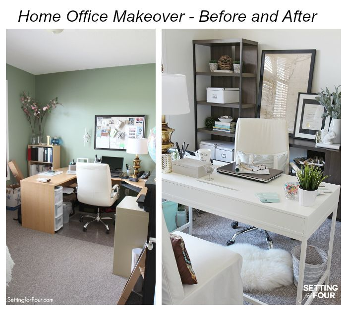 See my Home Office Makeover   before and after photos of the new paint  color  new storage and furniture  new room layout and decor. 1000  images about Setting for Four Blog on Pinterest   Easy