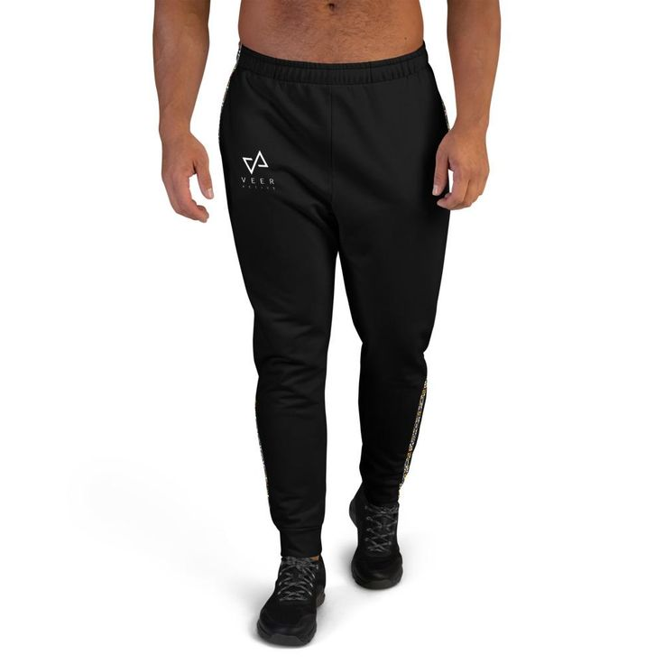 Make your workouts more comfortable with these cotton blend joggers. They're soft on the outside, and even softer on the inside, so use them for a jog, or simply for lounging on the couch to binge your favorite show. • 70% polyester, 27% cotton, 3% elastane • Fabric weight: 8.85 oz/yd² (300 g/m²) • Slim fit • Soft cotton-feel fabric face • Brushed fleece fabric inside • Cuffed legs • Practical pockets • Elastic waistband with a white drawstringSize guide XS S M L XL 2XL 3XL Waist (inches) 29… Jogging, Solid Black, Black Men, Mens Jogger Pants, American Veterans, Black Joggers, Fleece Fabric, Colorful Fashion, Fabric Weights