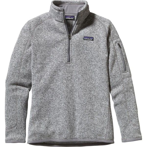 Patagonia Women's Better Sweater 1/4-Zip Fleece Jacket ($99) ❤ liked on Polyvore featuring activewear, activewear jackets, patagonia sportswear and patagonia