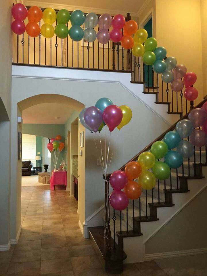 Rainbow Ballon Decorations For Around The House For A Great Sweet