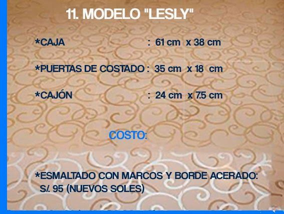 """GABINETE PARA BAÑO 11. MODELO """"LESLY"""""""