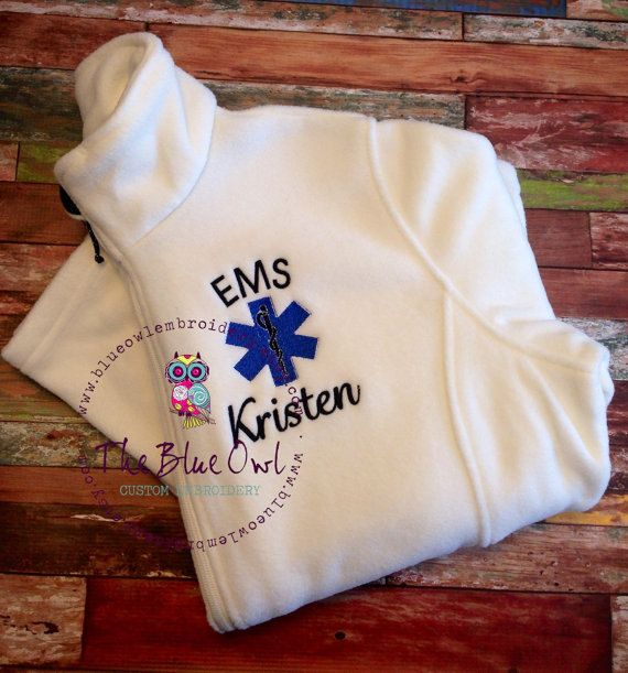 Star of Life Paramedic EMT Custom by TheBlueOwlEmbroidery on Etsy