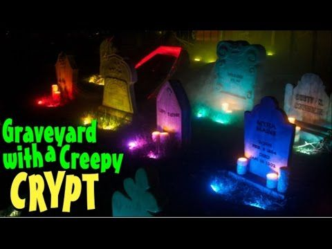 haunted graveyard decorations halloween mausoleum facade - Halloween Cemetery Decorations