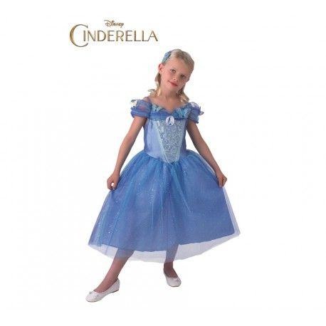 ¿A tu niña le gustan las pelis de disney? Este disfraz de Cenicienta infantil le encantará y le hará convertirse en su princesa disney favorita con este bonito disfraz premium.   Incluye: Vestido de una pieza. http://www.disfracessimon.com/disfraces-princesas-principes-infantil/4075-disfraz-cenicienta-nina-lujo.html