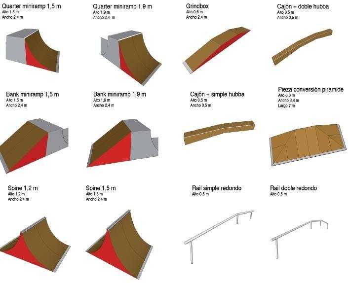 Alma73 - Mobiliario urbano, ayuntamientos, pistas de skate, fincas - Pistas de skate