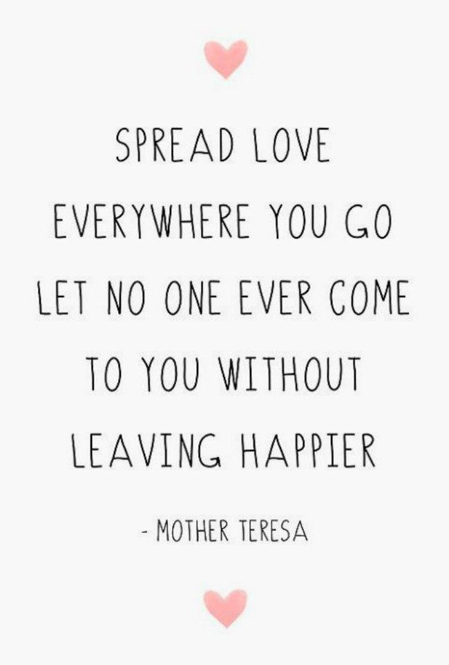 Love more. ^^ Trying to do this...some days are harder than others. Not going to give up, though!