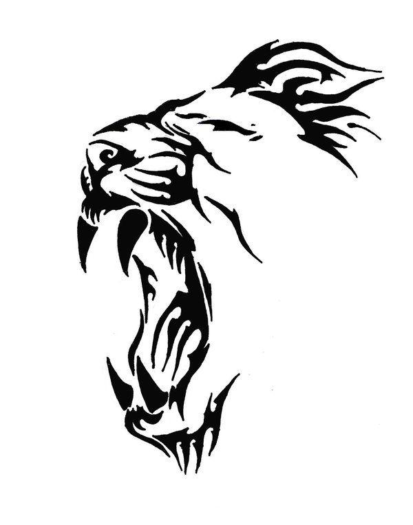 Best 831 Stencil images on Pinterest | Art Simple Lion Designs