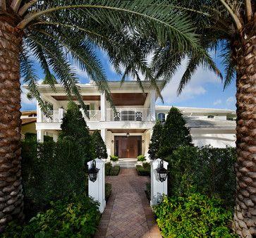 Royal Palm Residence - tropical - Exterior - Miami - W.A. Bentz Construction…