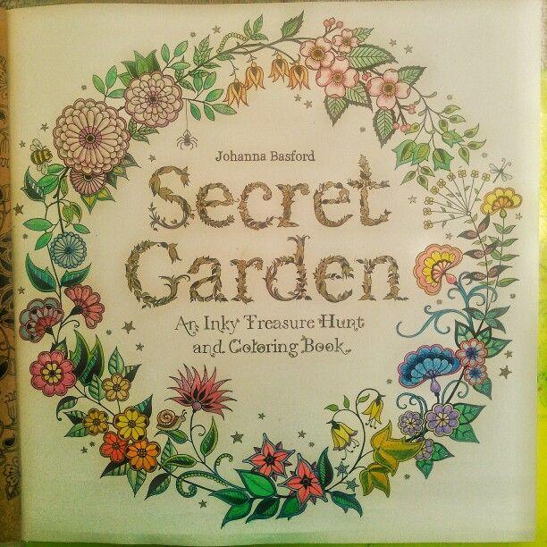Secret Garden An Inky Treasure Hunt Coloring Book