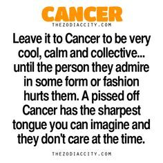 Zodiac Cancer Facts - Yep, we are the crazies lol @iamkdenise