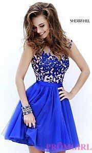 Buy Scoop Neck Sherri Hill Dress at PromGirl