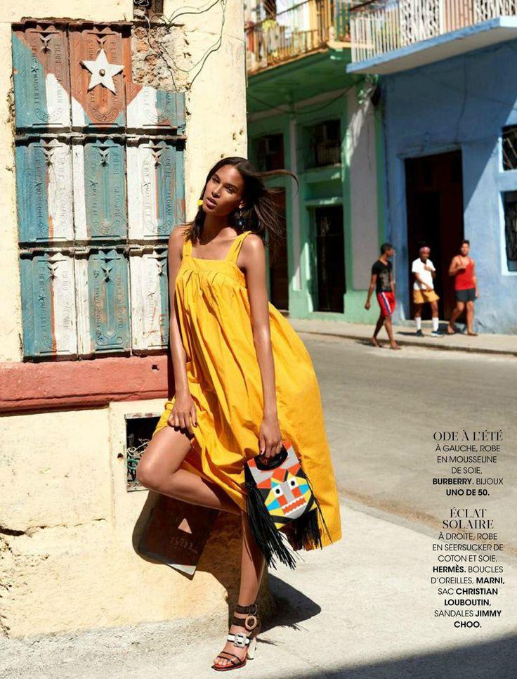 """Cuba Libre"" Cindy Bruna for Madame Figaro France July 2015"