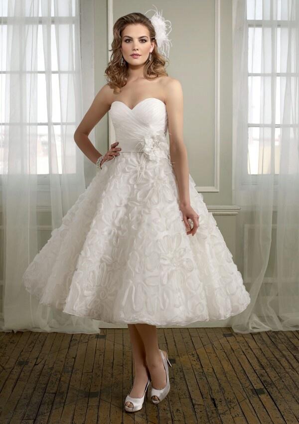 Tea Length Plus Size Wedding Dresses 2014
