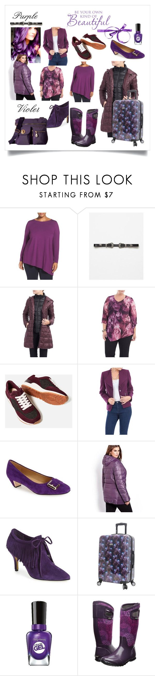 """""""Violet - Purple - Mauve"""" by ladeesse on Polyvore featuring mode, Eileen Fisher, Piel Leather, Laura B, Trotters, Addition Elle, Bella Vita, Sally Hansen, Bogs et Baggallini"""
