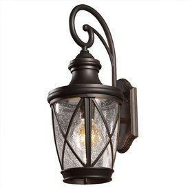 Allen + Roth Castine 20.38-In H Rubbed Bronze Medium Base (E-26) Outdoor Wall Light 39426