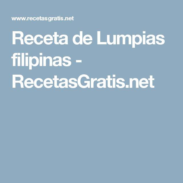 Receta de Lumpias filipinas - RecetasGratis.net