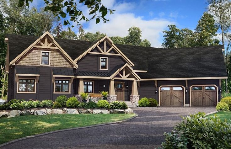 One of our favorites in our Craftsman series. This is our Stowe model. It's over 3300 square feet, has 5 bedrooms, 3.5 baths, separate laundry and a 2-car garage. The beautiful architecture highlights what defines a true Craftsman home. www.timberblock.com