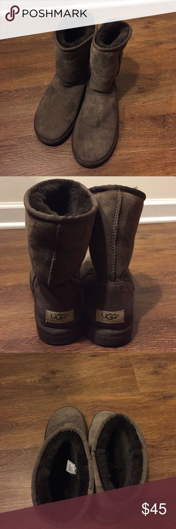 UGG classic short boots Classics short brown UGGs- rarely worn! UGG Shoes Winter & Rain Boots