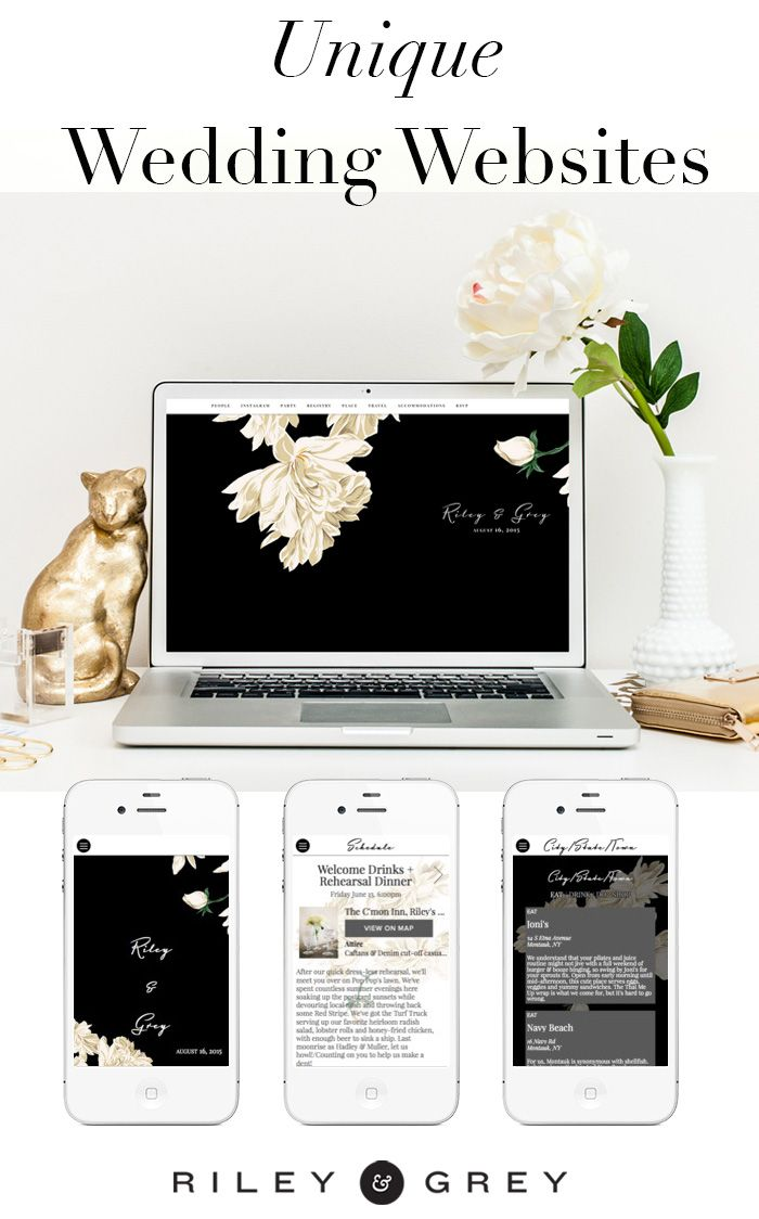 """""""Camellia"""" floral wedding website design example from Riley & Grey. Click through to view this and other customizable, limited-edition, luxury templates. (wedding planning, wedding app, save the date, invitations, modern wedding)"""