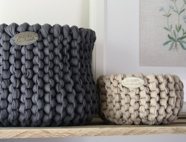 Das Original: Strickkorb aus original-Textilos in Waffelpiqué-Qualität