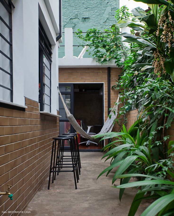 27-decoracao-quintal-rede-plantas-canteiro