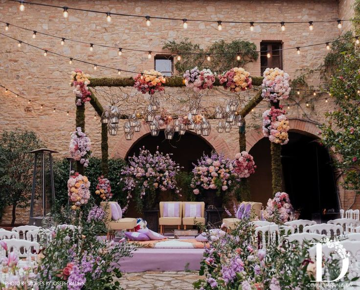Decor done by Devika Narain at the Tuscan wedding of Anushka & Virat