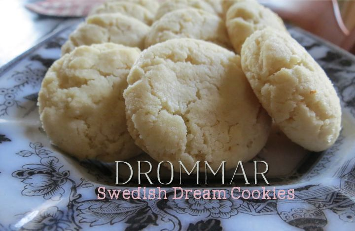 Drommar Cookies - A traditional Swedish cookie with baking ammonia. #christmascookie #swedish