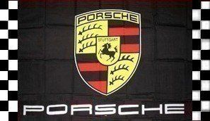 NEOPlex 3' x 5' Porsche Black Checkered Flag by NEOPlex. $28.49. This 3 x 5 foot novelty message flag is made from super polyester that is durable, yet lightweight enough to fly in even the lightest breeze. It has 2 brass grommets firmly attached to heavy canvas on the inner fly side. Bright, vivid colors and colorfast to reduce fading. Many titles to choose from.. Save 27%!