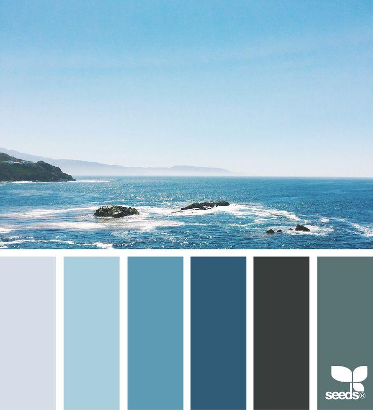 { sea blues } image via: @lizlangley via @designseeds