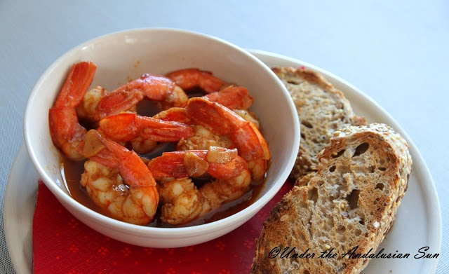 Gambas pilpil. Quick, easy and sinfully delicious...! But carb-free!