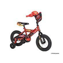 Huffy 12 inch Boys Bike with Rev Grip - Cars by Huffy. $119.98. You'll hear race sounds when they ride the Disney Cars bike with Lights & Sounds Revv Grips! At the push of the button, you'll hear Disney's favorite race car, Lightning McQueen, speak, brakes squeal, and more. Twist the grip to hear the engine roar! With each twist, the engine moves through the gears and the dashboard lights up in different colors! Disney Cars designs are on the entire bike, including the famous ?95...