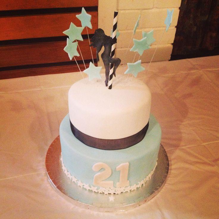 Pole dancer cake, 21st cake